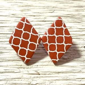 Polymer Clay Pair Of Studs Earrings